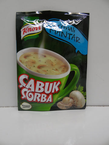 Knorr Cup Mushroom Soup W.cream / Kremali Mantar Cabuk Corba Pack of 24 X 19 Gr - 67 Oz