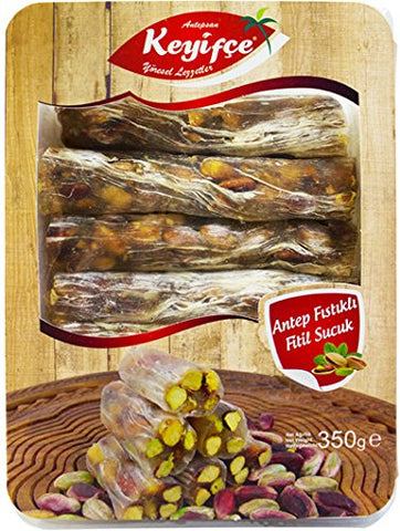 Antepsan Keyifce Antep Fistikli Fitil Sucuk - Stick Delight With Pistachio 350 Gr ( 12.3 Oz )