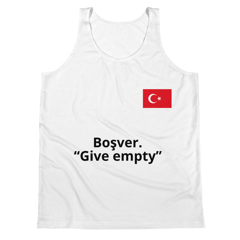 Unisex Tank Top FUNNY DIRECT TURKISH TRANSLATION BOS VER