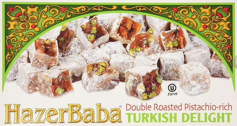 Hazer Baba  Cifte Kavrulmus Lokum - Double Roasted Pistachio-Rich Turkish Delight 350 g (12.25 oz)