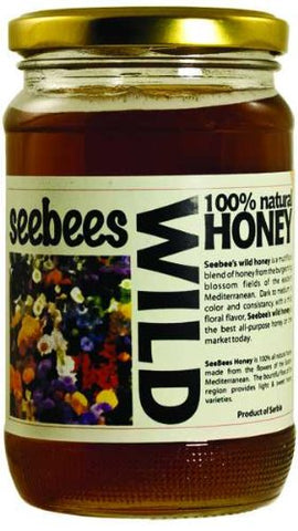 SeeBees Wild Honey 100% Natural Honey 450 Gr ( 16 Oz )