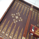 "Platin Wooden Backgammon 19"" Board Set Turkish Backgammon Game"
