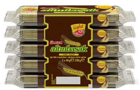Ulker Altinbasak Yulafli Kepekli Biskuvi 5'Li - Light Wheat Biscuit 5 Pack 230Gr ( 8.1 Oz )