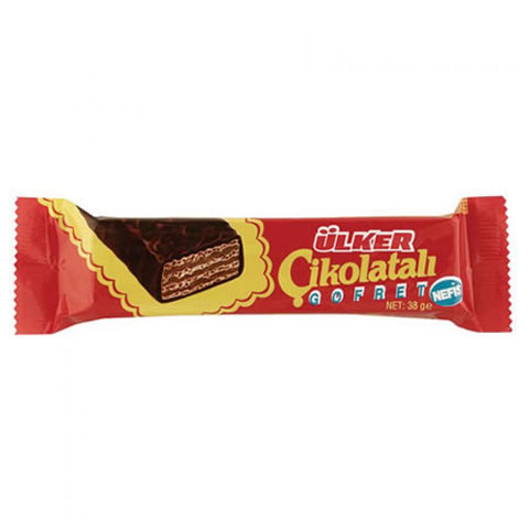 Ulker Cikolatali Gofret - Chocolate Wafers 38 Gr ( 1.3 Oz )