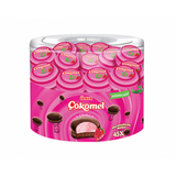 Ulker Cilek Aromali Cokomel - Chocolate Covered Strawberry Marshmallow Biscuit 45 Pcs  585 Gr ( 1.3 Lbs )
