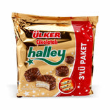 Ulker Mini Cikolatali Halley 3'lu - Mini Chocolate Cookies With Marshmallow 3 Pack 264 Gr ( 9.3 Oz )