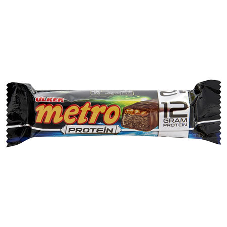 Ulker Metro Milk Chocolate with Peanut and Caramel and 12grams of Protein 50gr