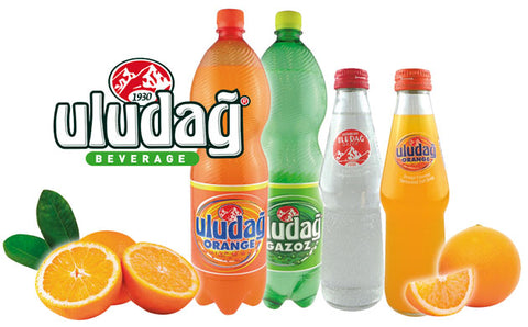 Uludag Portakalli Gazoz - Soda With Orange Flavor 330 Ml ( 11 Oz )