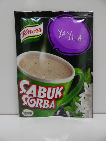 Knorr Cup Yogurt Rice Soup / Yayla Cabuk Corba Pack of 24 X 18 Gr - 63 Oz