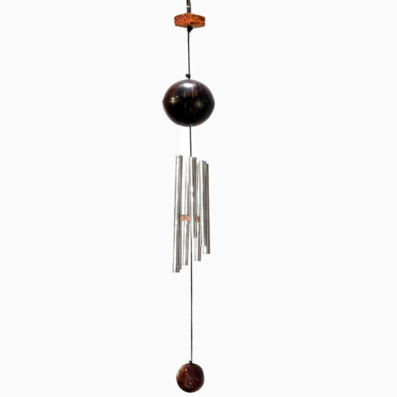 Sahya Dale Coconut Shell and Wood Wind Chime- Hand Made - Gift Item