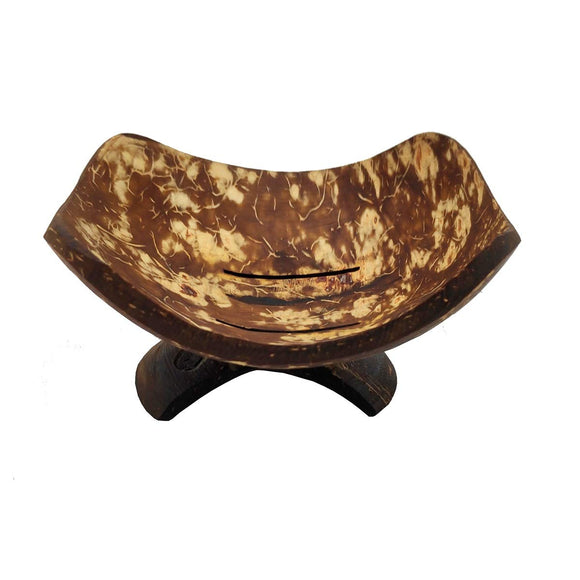 Sahya Dale Coconut Shell Soap Stand - Decorative - Made from Coconut Shells