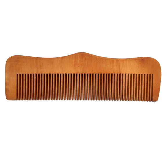 Sahya Dale Neem Wood Comb for Men and Women - Anti-Dandruff- Light Brown - Made from Neem Wood- Rounded Outer Side
