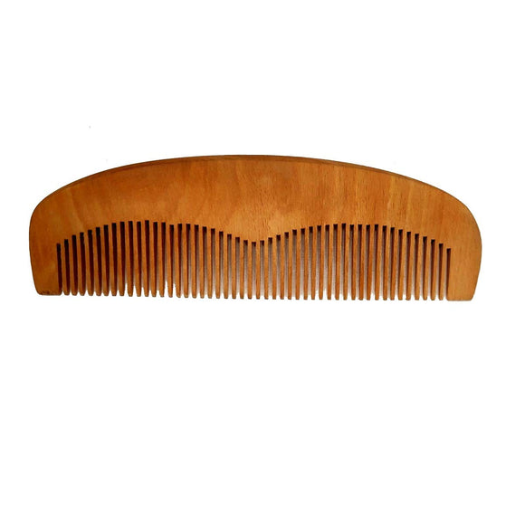 Sahya Dale Neem Wood Comb for Men and Women - Anti-Dandruff- Light Brown - Made from Neem Wood- Rounded Inner Side