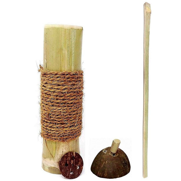 Sahya Dale Bamboo Puttu Maker/Traditional Puttu Kutti/Steamer - Made from Bamboo & Coconut Shells