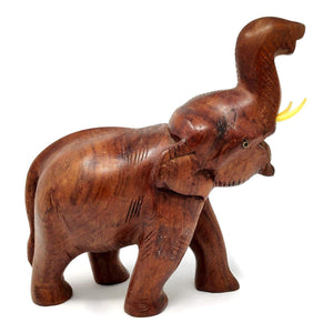 Sahya Dale Wooden Elephant Statue- Hand Made - Rose Wood 22 x 20cm