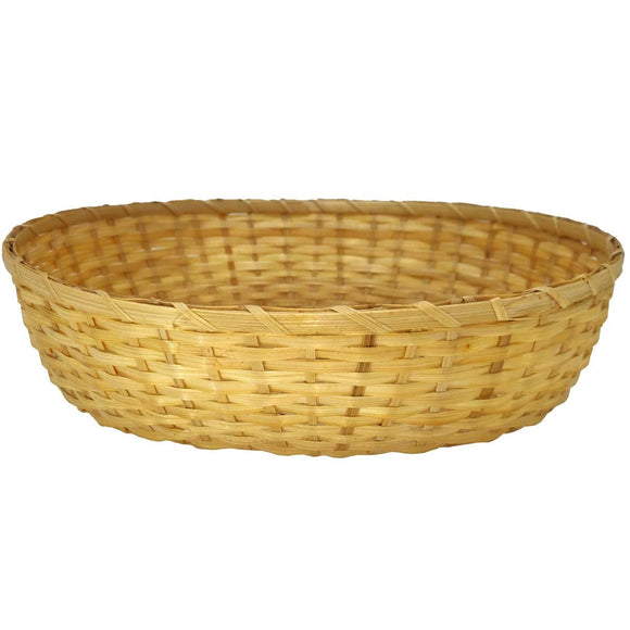 Sahya Dale Bamboo Basket (24cm x 20cm Diameter)- Oval Shape- Multi Purpose- Chapati- Roti- Paratha - Organic - Hand Made - Made from Bamboo