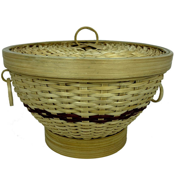 Sahya Dale Bamboo Basket with Lid- Multipurpose - Chapati - Paratha - Roti- Organic - Hand Made