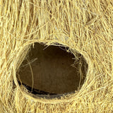 Sahya Dale Coir Bird Nest Medium with Hanging Hole- Hand Made - Made of Natural Coir, Coconut Shell and Gum