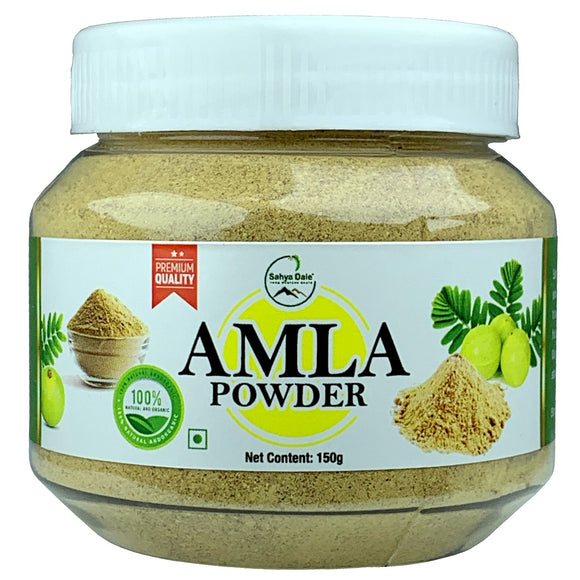 Sahya Dale Amla Powder 150g- 100% Natural Indian Gooseberry Powder- For Hair, Skin and Health- Product of The Western Ghats