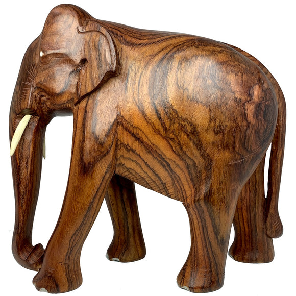 Sahya Dale Wooden Elephant Statue- Hand Made- Rose Wood 27 x 26cm
