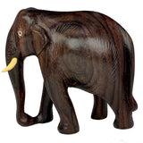 Sahya Dale Wooden Elephant Statue- Hand Made- Rose Wood 11 x 11cm