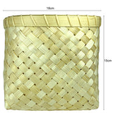 Sahya Dale Bamboo Basket (18cm x 15cm)- Four Corner Square Shape- Multi Purpose- Organic - Hand Made