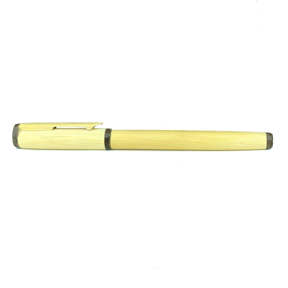 Sahya Dale Bamboo Coconut Shell Ball Point Pen Blue- Natural & Eco- Friendly Pen