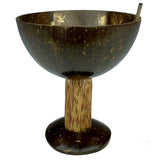 Sahya Dale Coconut Shell Salad Bowl/ Cup with Spoon - Hand Made