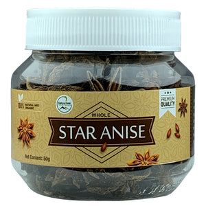 Sahya Dale Whole Star Anise 50g- First Grade Thakkolam- Product of The Western Ghats…