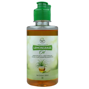 Sahya Dale Lemongrass Oil 250ml - Natural Floor Cleaner and Disinfectant - Insect Repellent- Aroma Diffuser