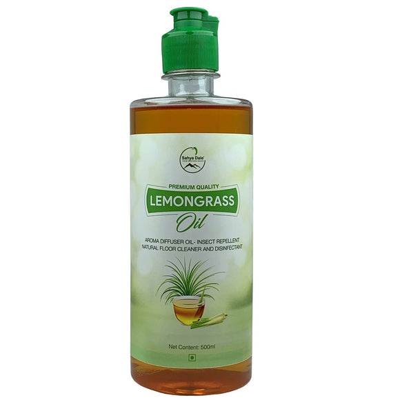 Sahya Dale Lemongrass Oil 500ml - Natural Floor Cleaner and Disinfectant - Insect Repellent- Aroma Diffuser