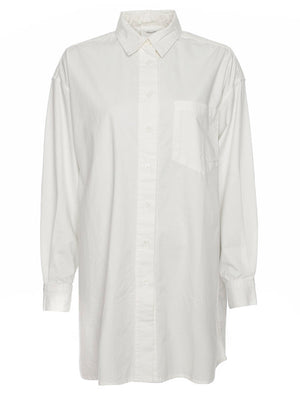 OFFWHITE HEAVY COTTON OVERSIZED SHIRT