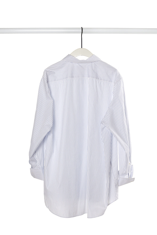 RELAXED SHIRT IN BLUE STRIPE