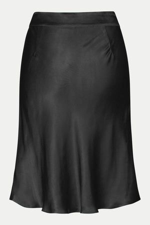 MINI SATIN SKIRT IN BLACK
