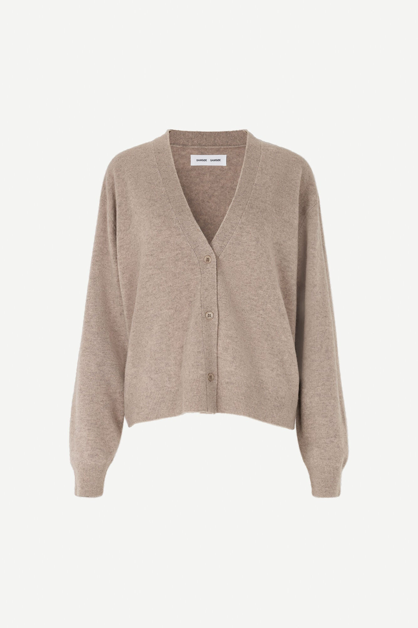 SHORT OVERSIZED CARDIGAN IN WARM GREY