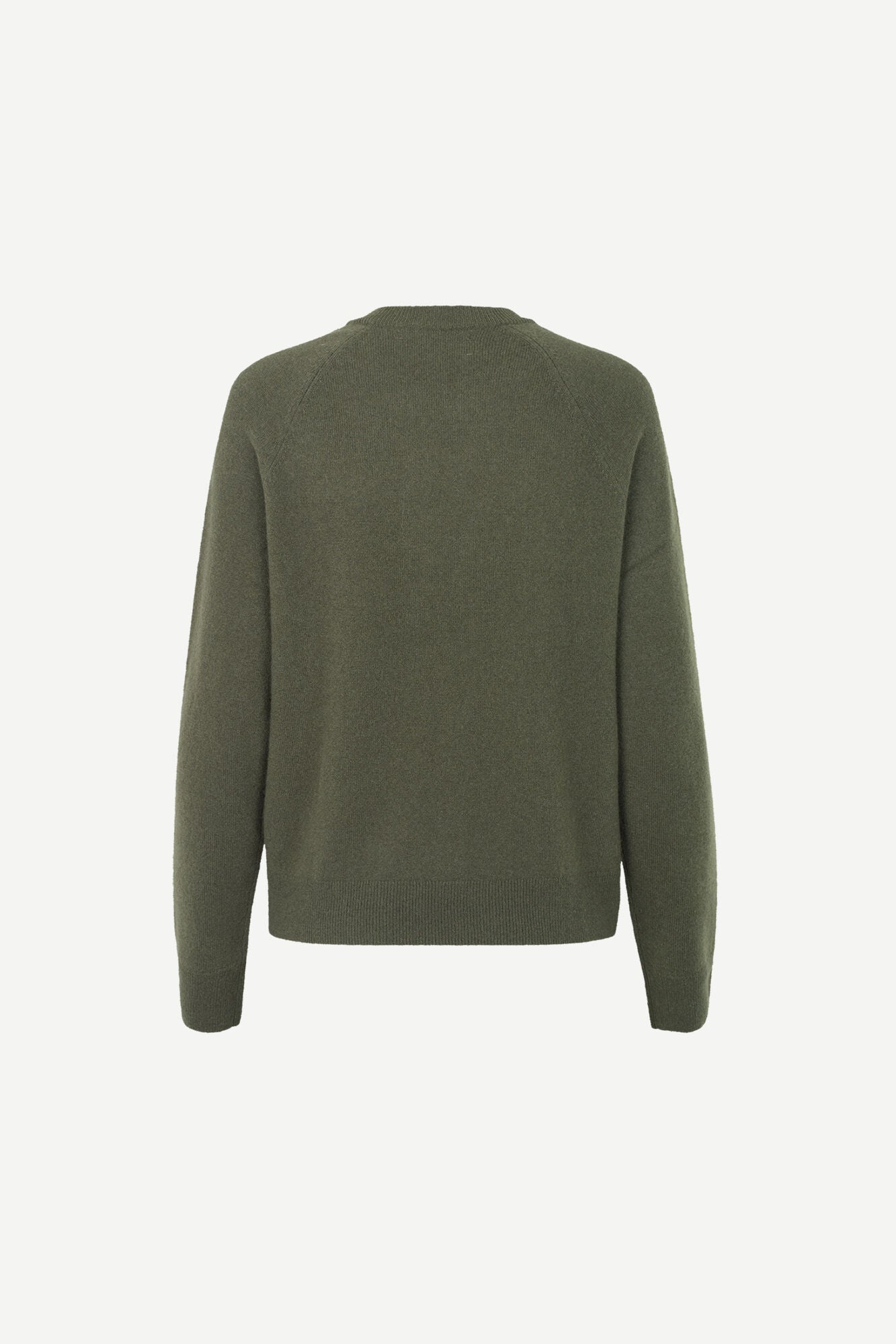 PURE CASHMERE CREW NECK IN DARK OLIVE