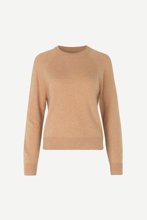 PURE CASHMERE CREW NECK IN BEIGE