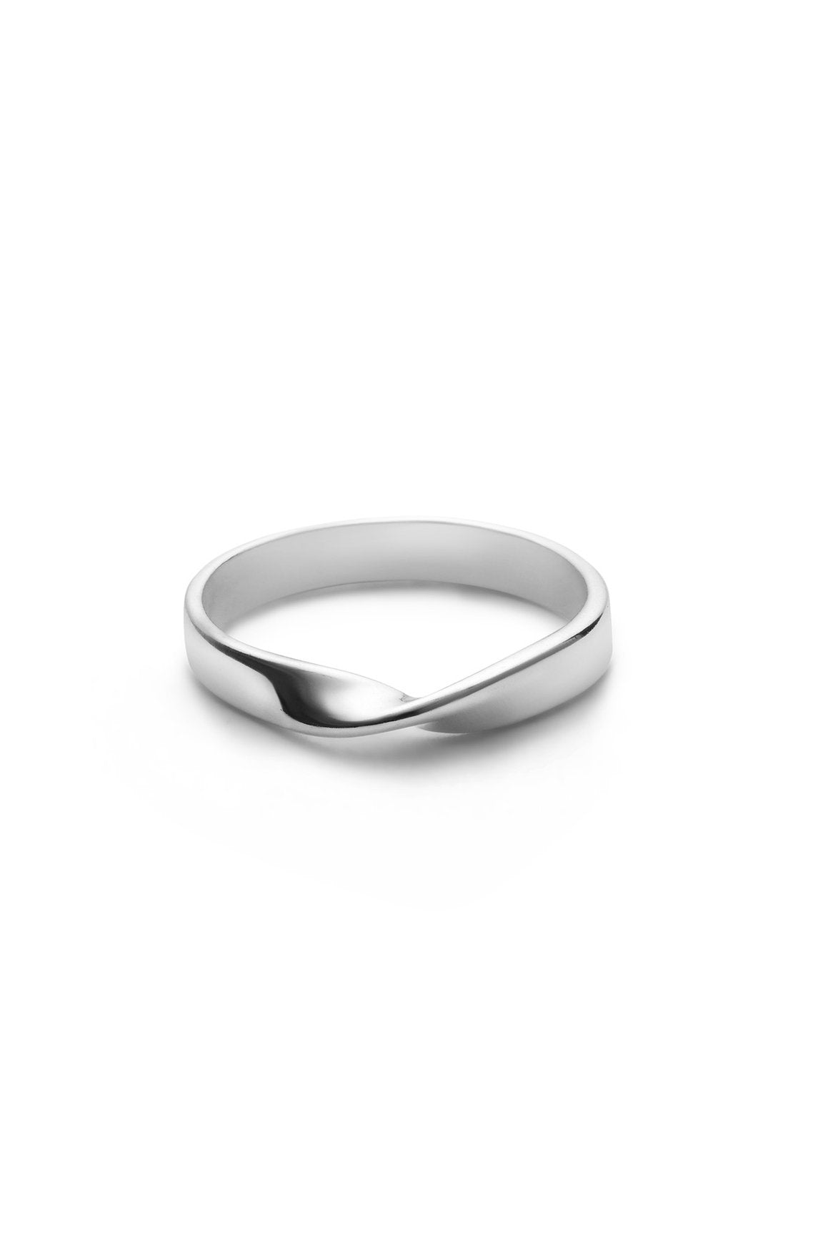 TWIST RING IN SILVER