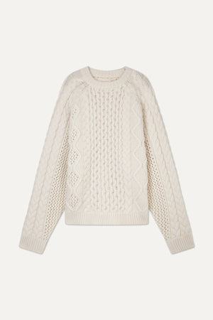 CIPRIANU CABLE KNIT PULLOVER BY LOULOU STUDIO