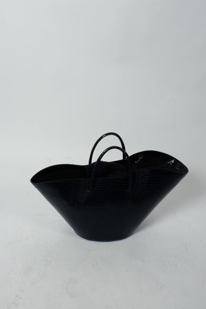 OPEN TULIP TOTE LARGE NAVY BY LITTLE LIFFNER - BEYOND STUDIOS