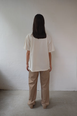 HOPE HEAVY COTTON UNISEX SHIRT IN OFF WHITE - BEYOND STUDIOS