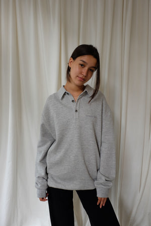 POLO SWEATER IN GREY BY CAN PEP REY