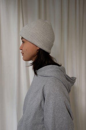 BEANIE IN SILVER BY LE BONNET