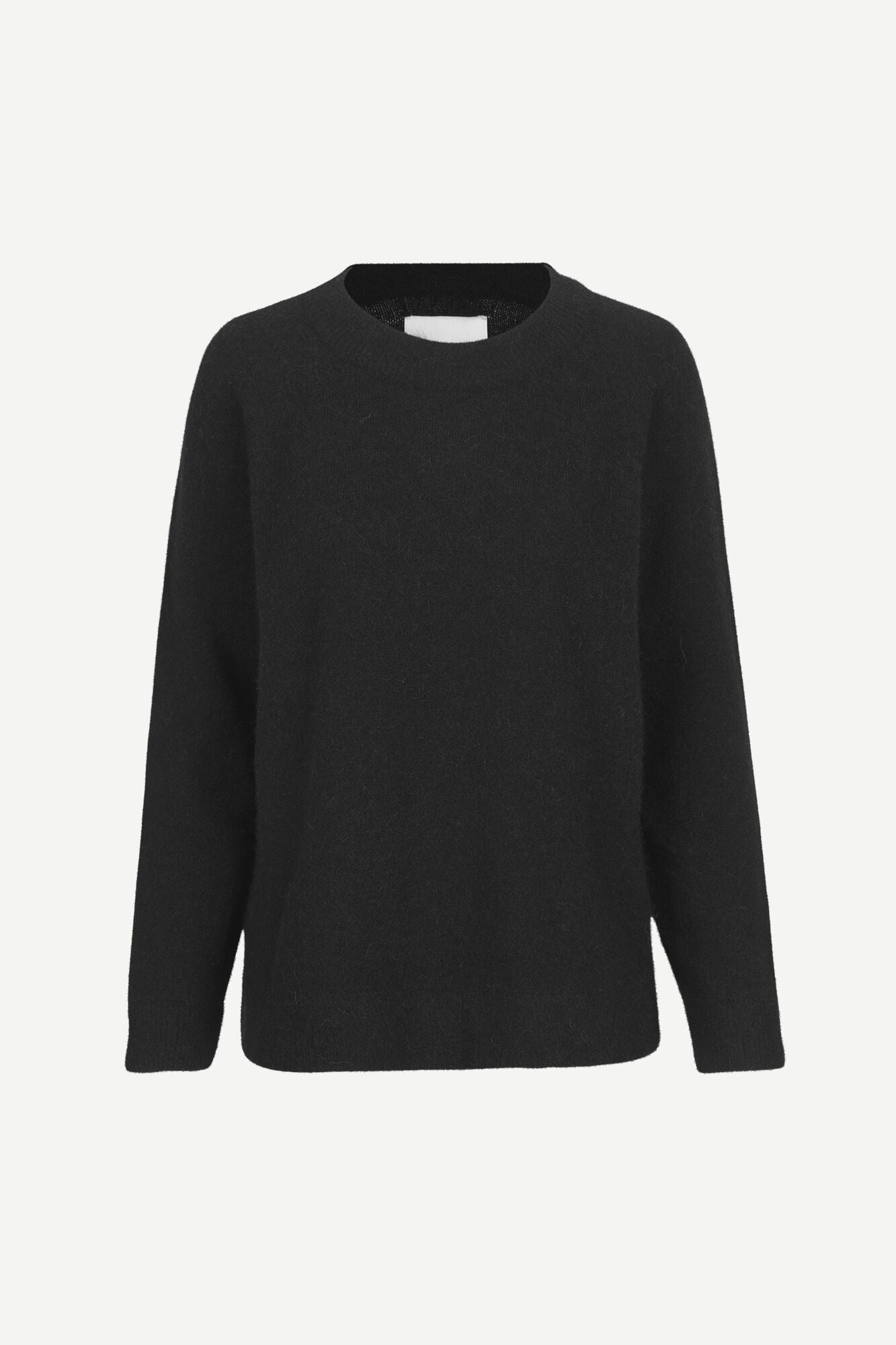 OVERSIZED ALPACA KNITTED SWEATER IN BLACK