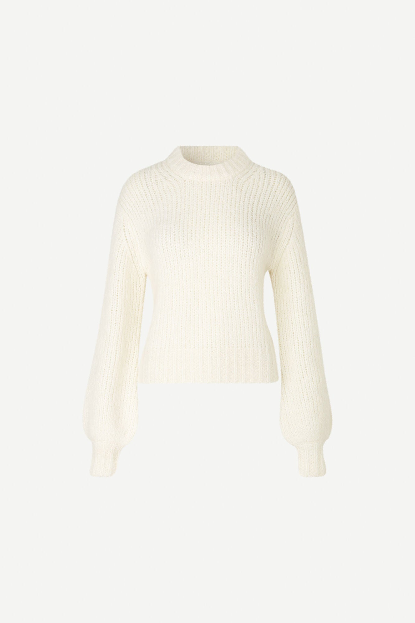 KNITTED CREW NECK IN IVORY WHITE