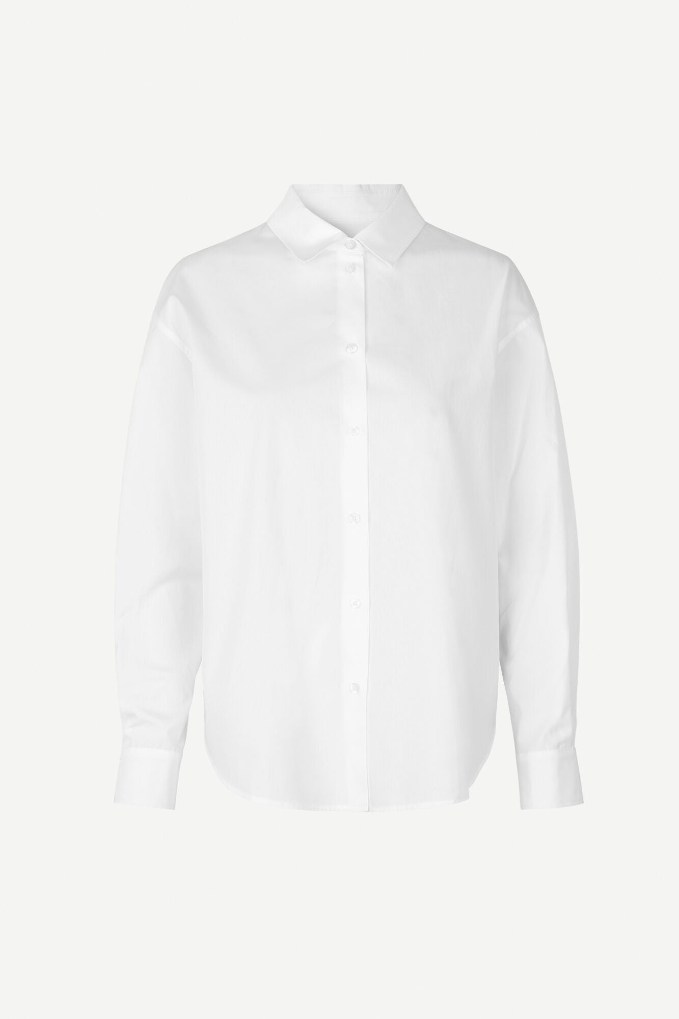 DROPPED SHOULDER COTTON SHIRT IN WHITE