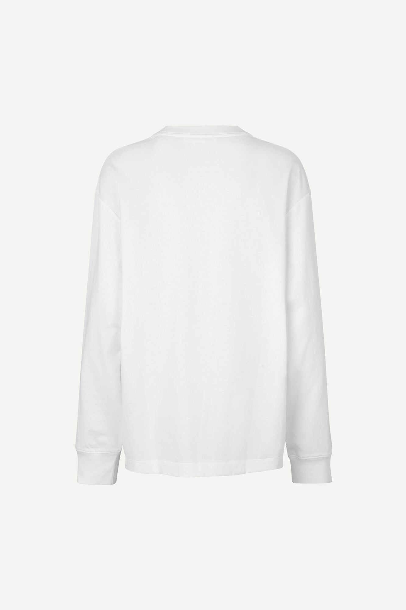 RELAXED FITTING LONGSLEEVE IN WHITE
