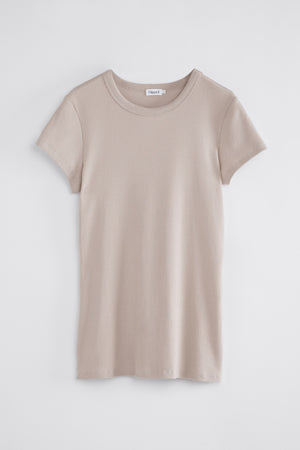 FINE RIB TEE BY FILIPPA K IN SAND BEIGE