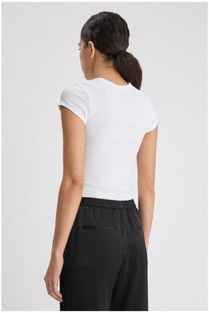 FINE RIB TEE WHITE BY FILIPPA K - BEYOND STUDIOS