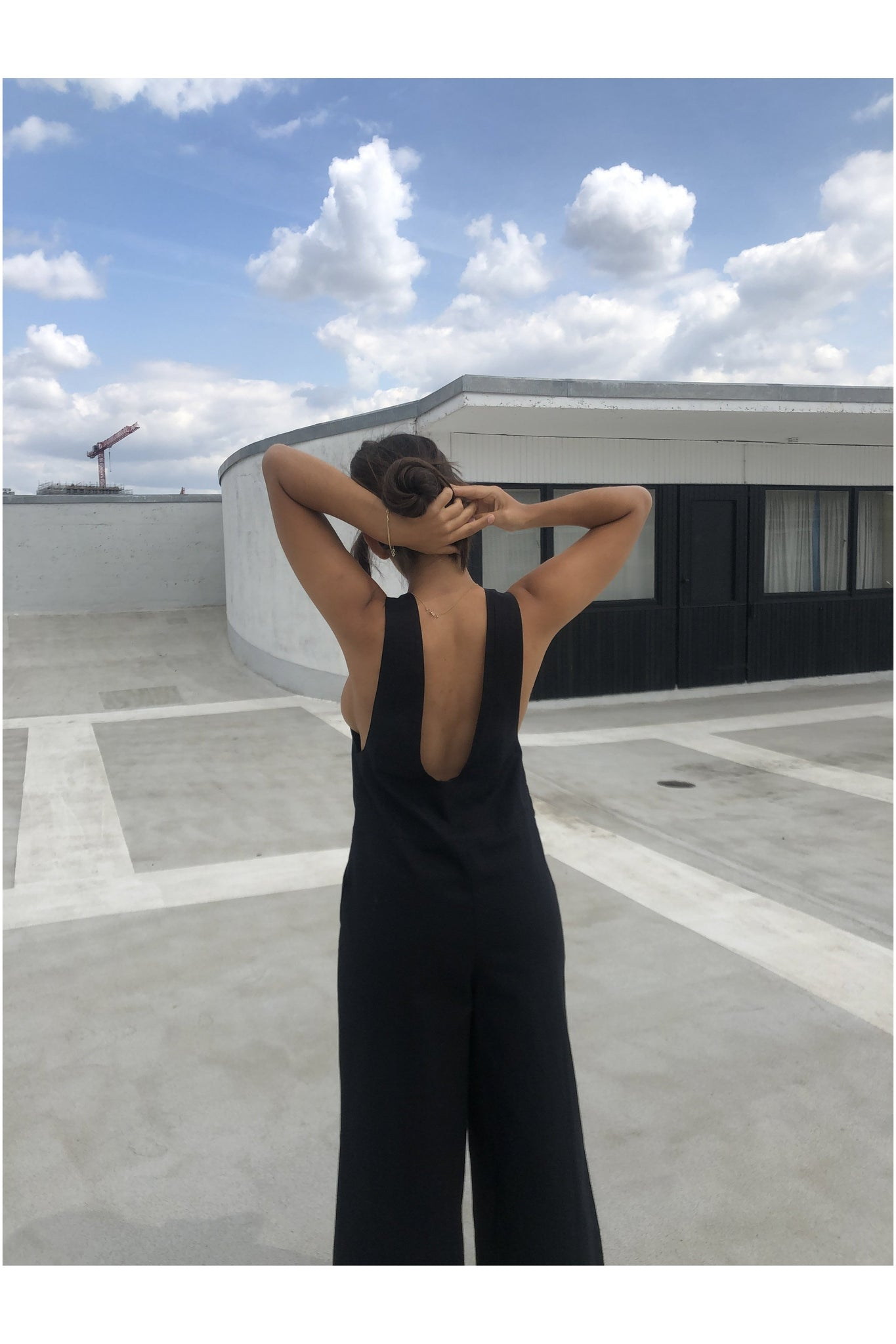 BLACK CUT OUT JUMPSUIT - BEYOND STUDIOS